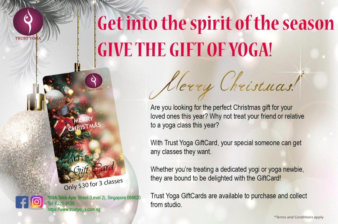 2018 Christmas Gift Card | TRUST Yoga